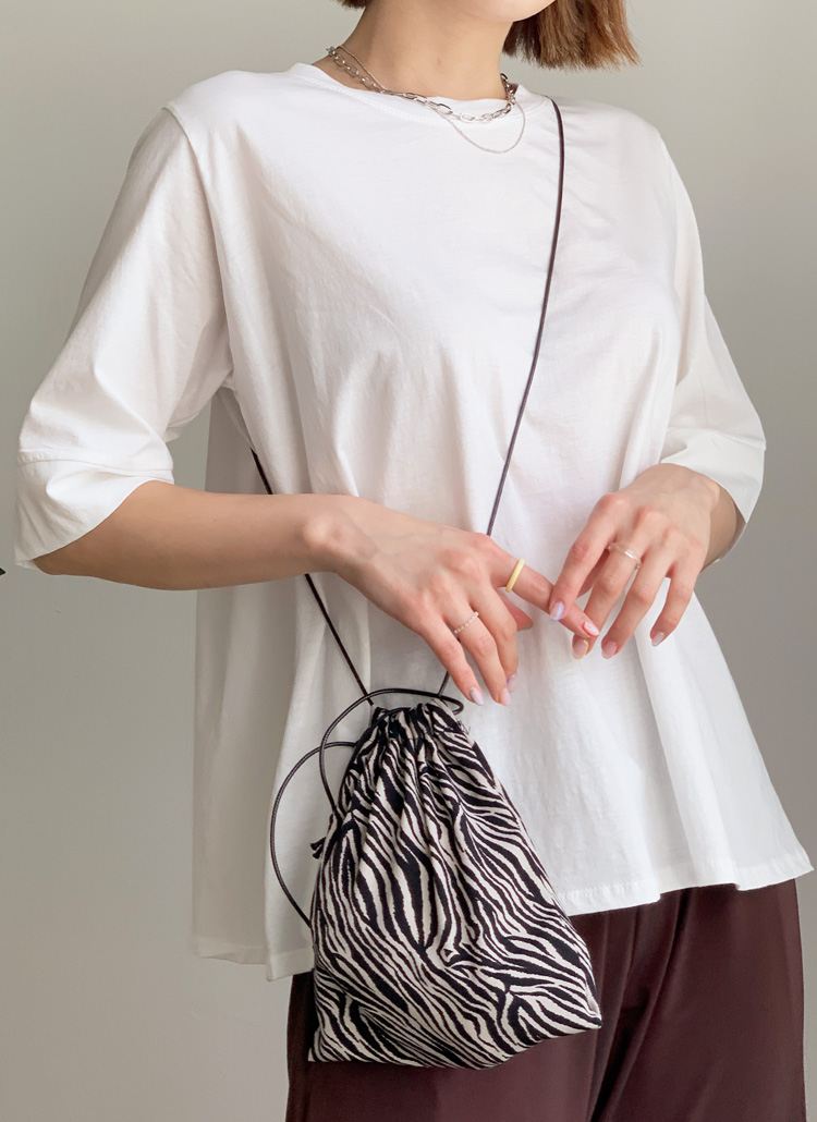 2TYPEパターン巾着バッグ・全2色