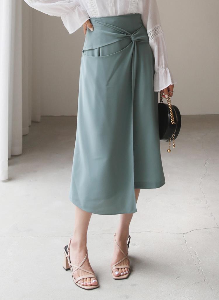 ツイストフレアスカート・全3色