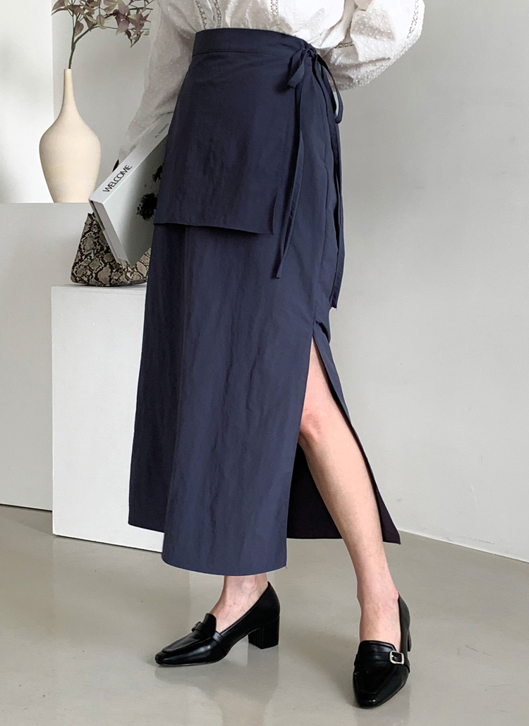 アンバランスリボンスカート・全3色