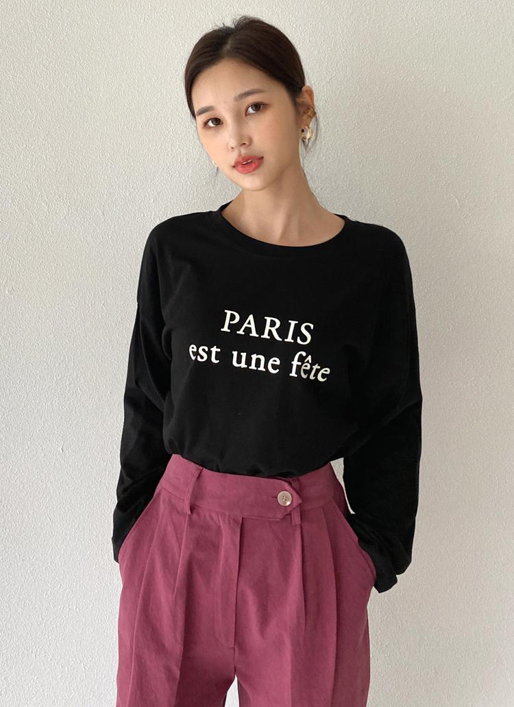 レタリングルーズTシャツ・全4色