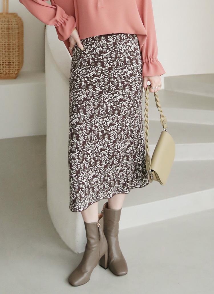 花柄ニットスカート・全2色