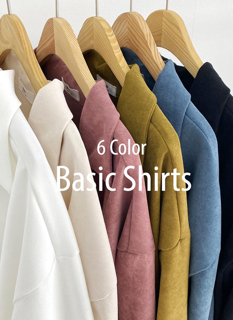 スキッパーシャツ・全6色