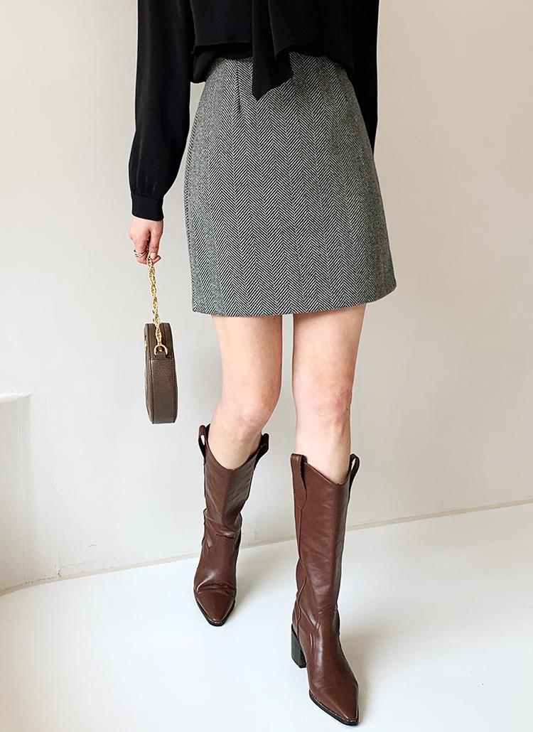 ヘリンボーンミニスカート・全3色