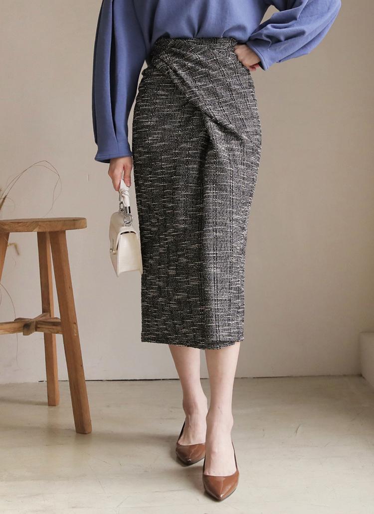 ツイードツイストスカート・全3色