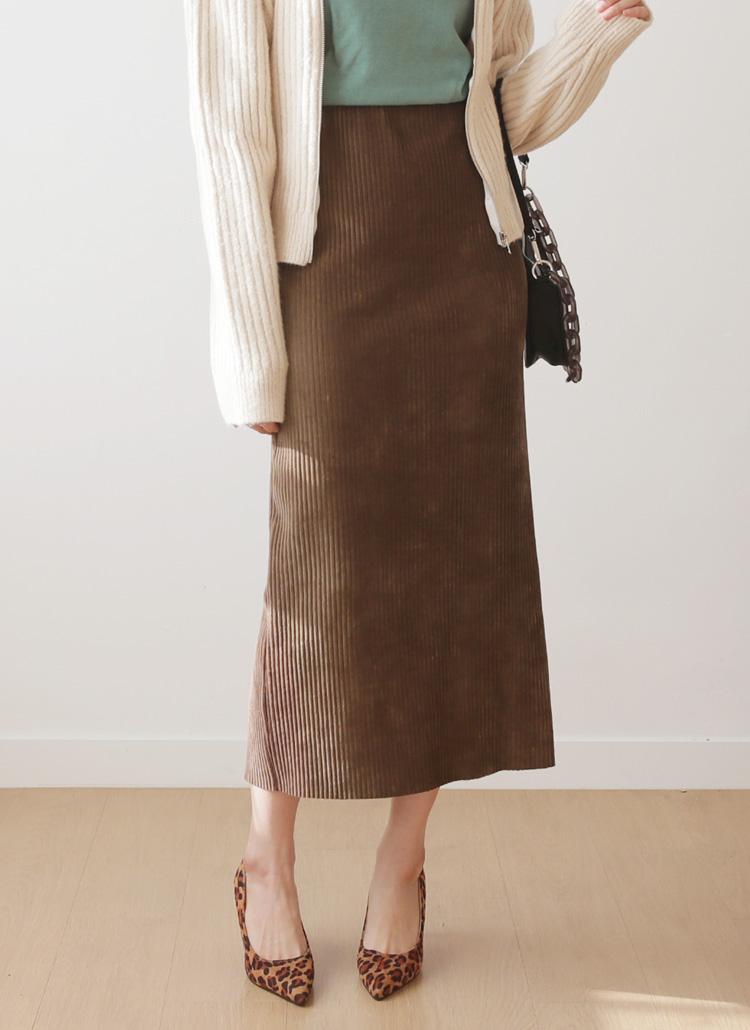 コーデュロイHラインスカート・全3色