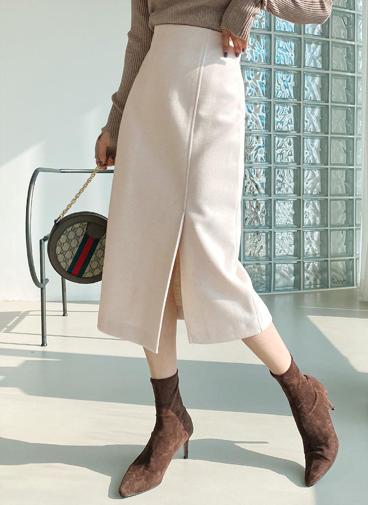 Hラインスリットスカート・全3色