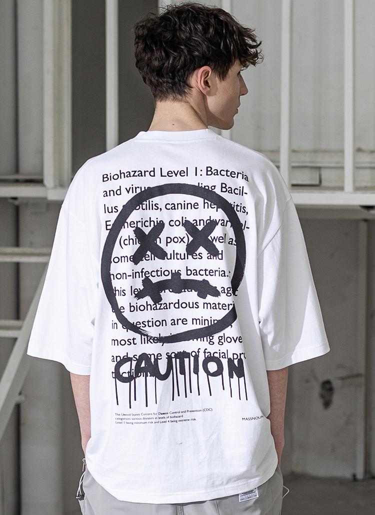 バックレタリングTシャツ(WHITE)