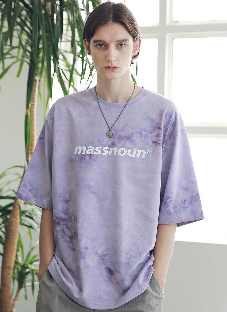 タイダイオーバーサイズTシャツ(PURPLE)