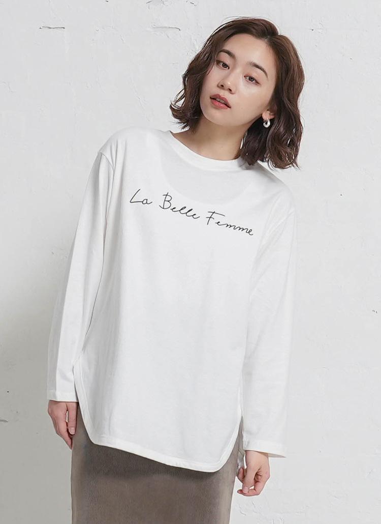 ミニレタリングTシャツ・全4色