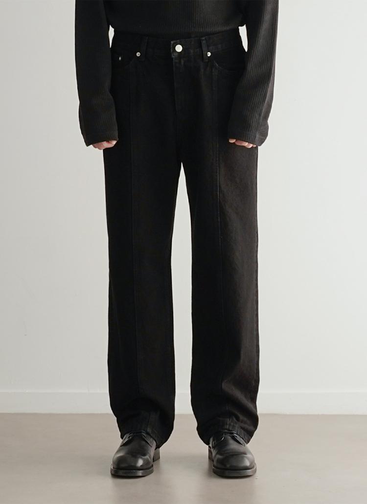 センターラインジーンズ(ブラック)