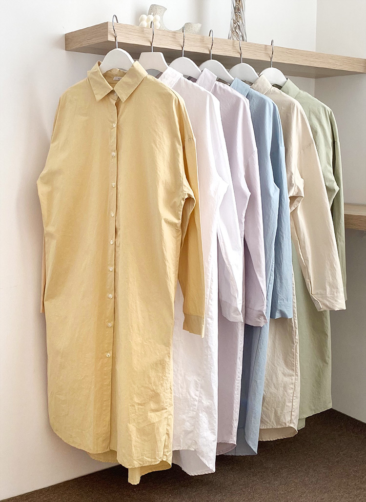 ロングシャツ・全6色