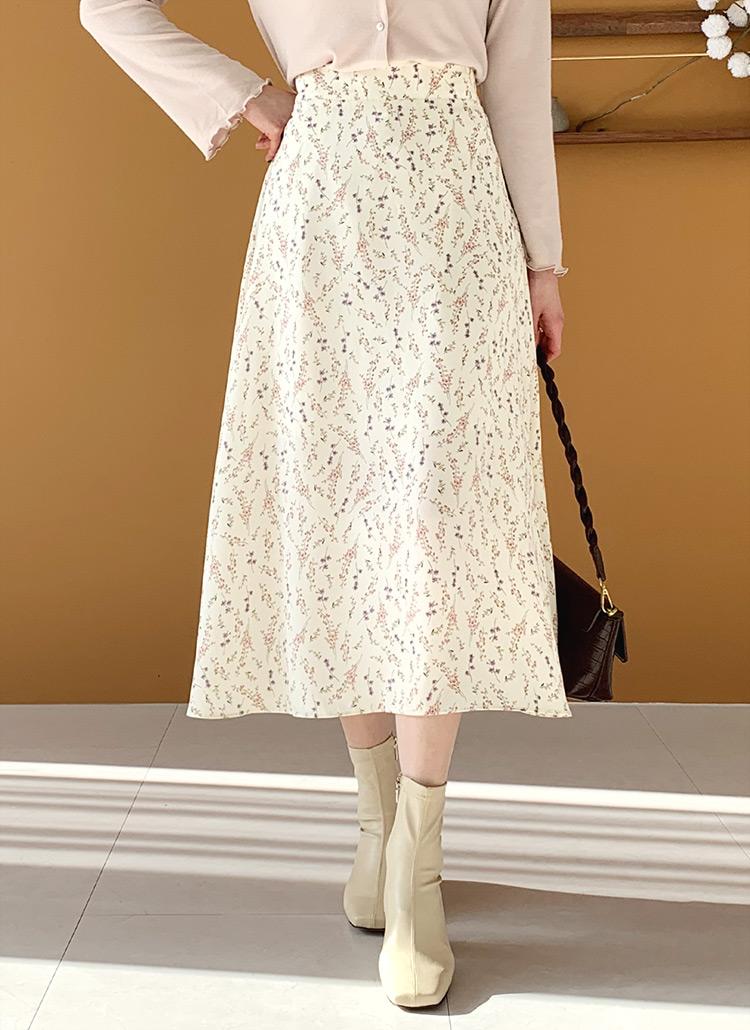 花柄ロングスカート・全3色
