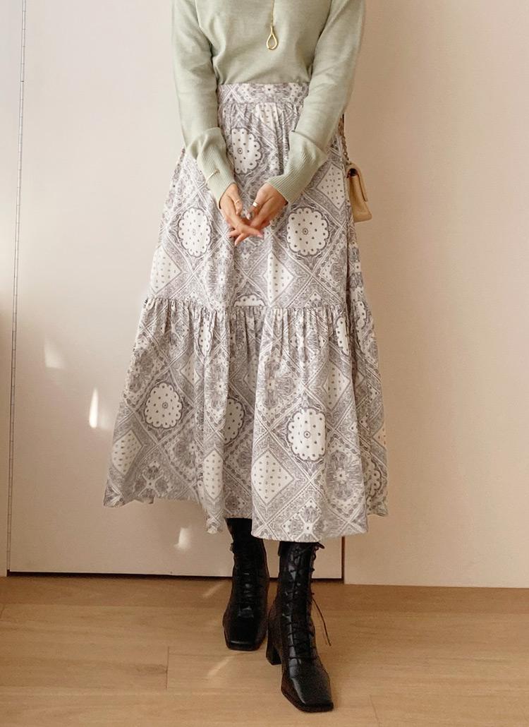 ペイズリースカート・全2色