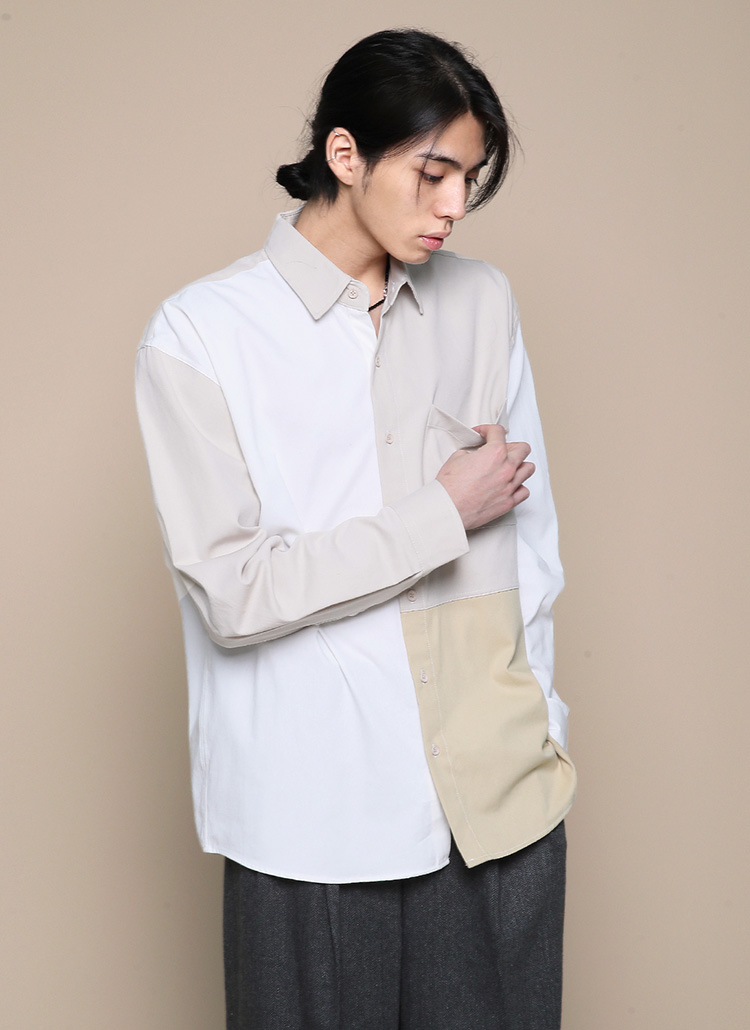 コントラストカラーシャツ・全2色