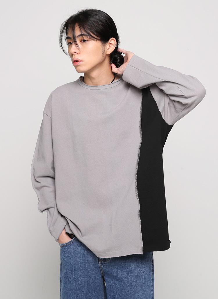 配色カットオフTシャツ・全2色