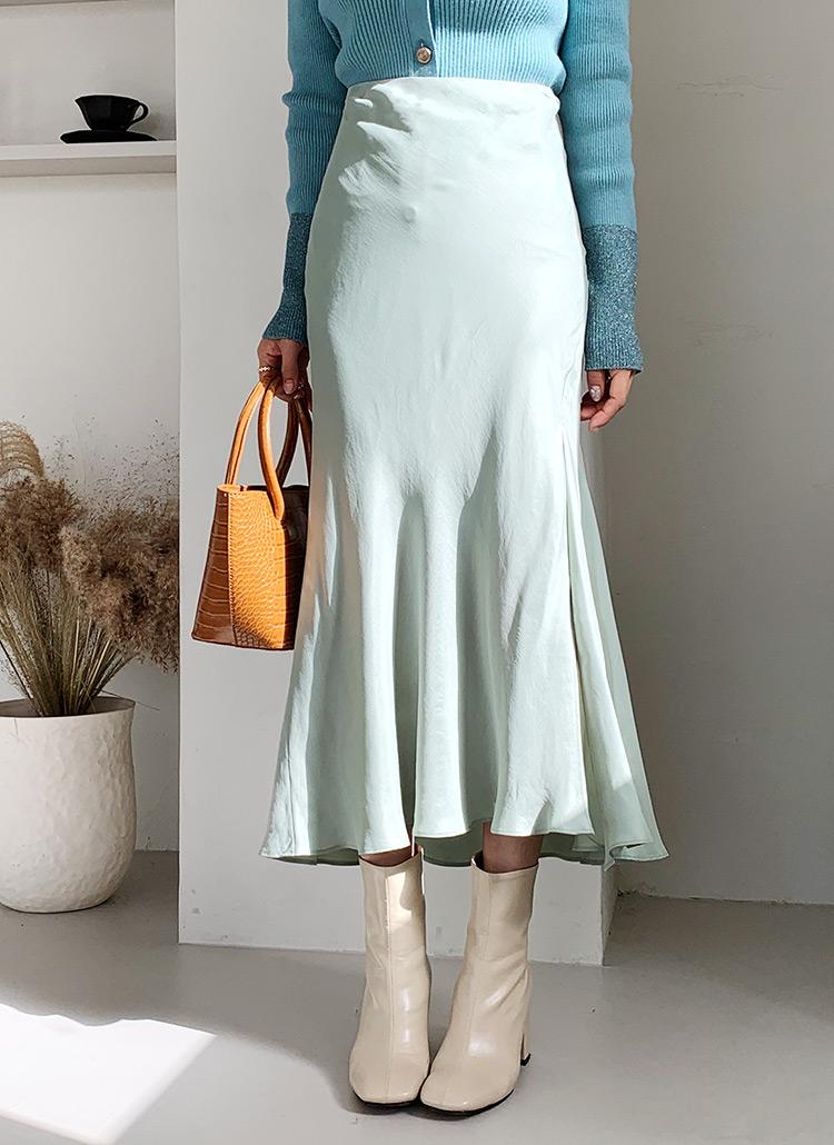 フレアスリットスカート・全4色
