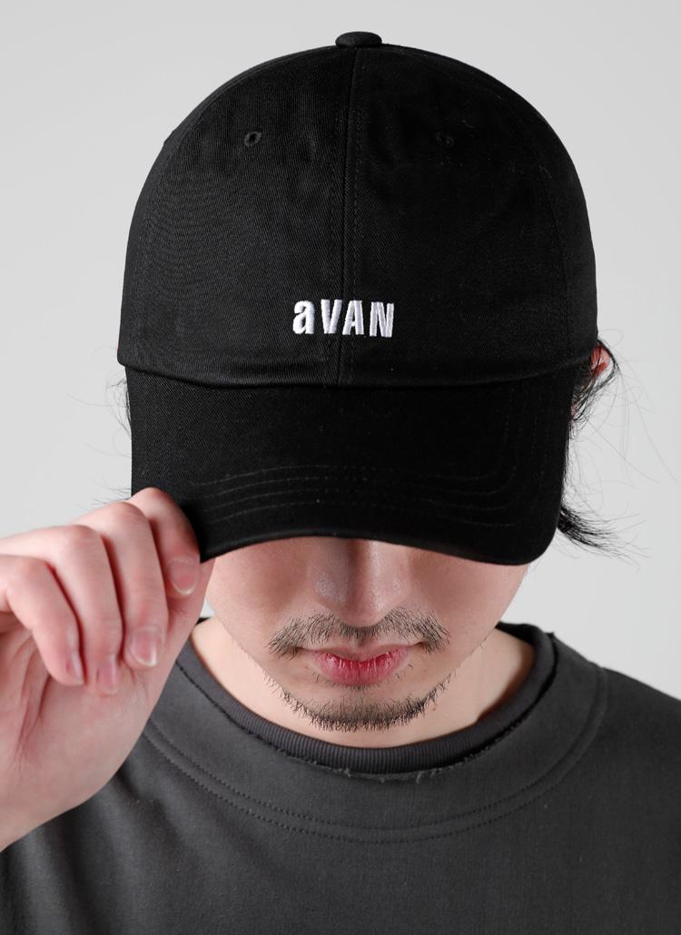 aVANレタリングキャップ(BLACK)