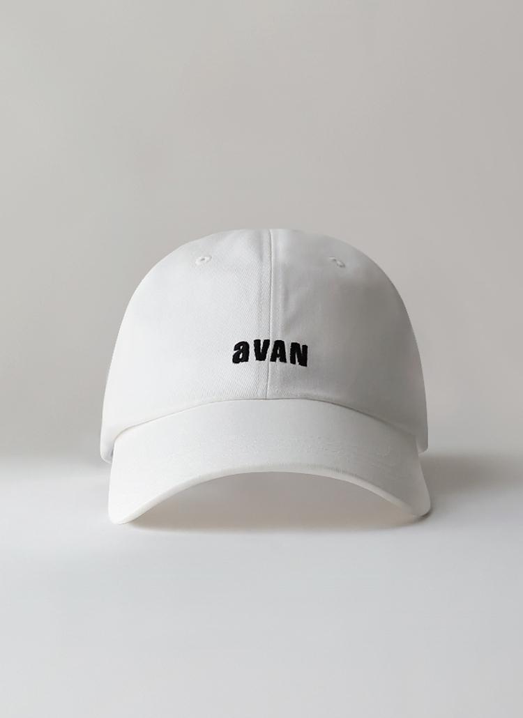 aVANレタリングキャップ(WHITE)
