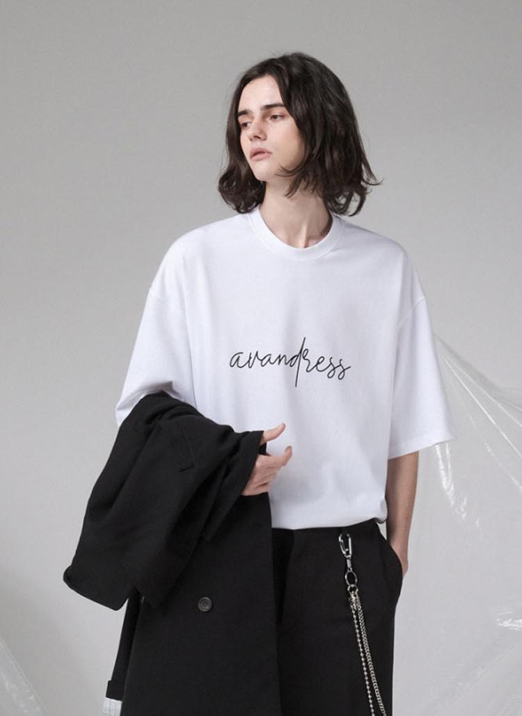 刺繍ロゴ半袖Tシャツ(WHITE)