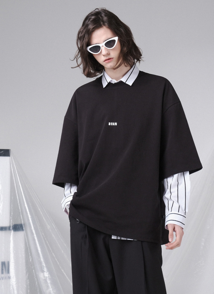 aVANオーバー半袖Tシャツ(BLACK)
