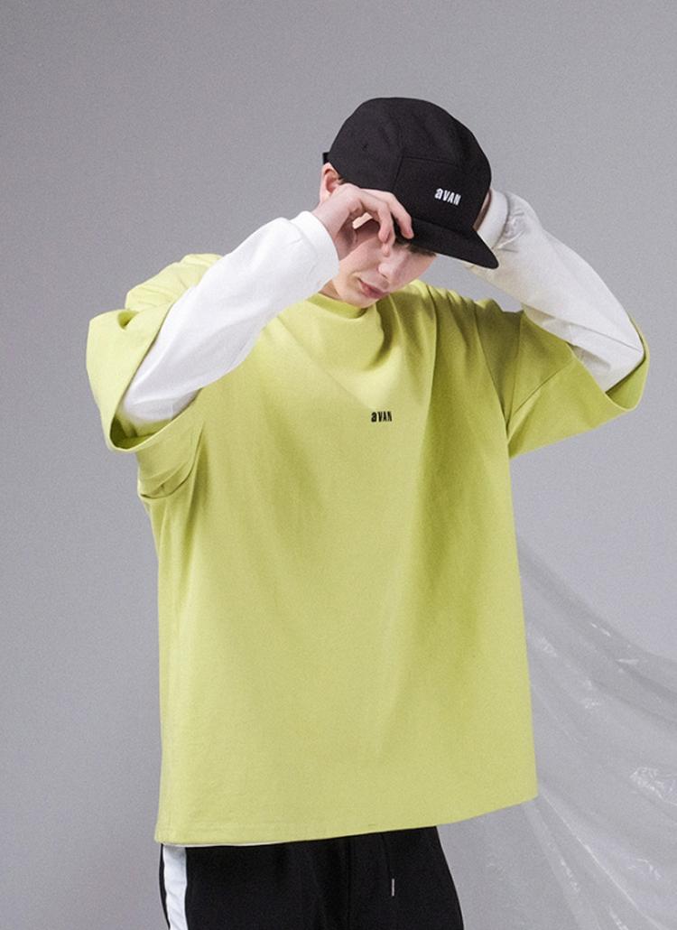 aVANオーバー半袖Tシャツ(LIME)