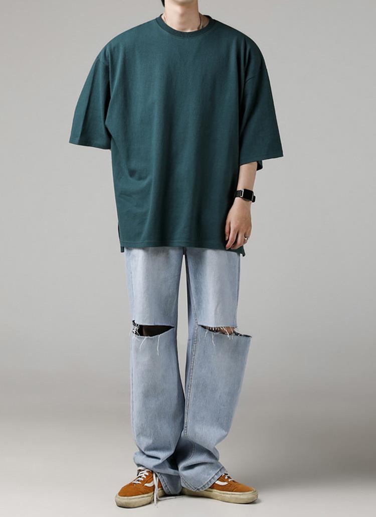 シグネチャータグオーバーTシャツ(GREEN)