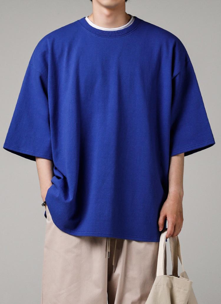 シグネチャータグオーバーTシャツ(BLUE)
