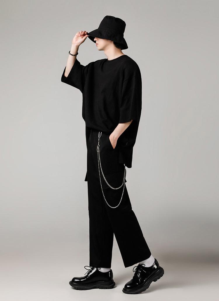 シグネチャータグオーバーTシャツ(BLACK)