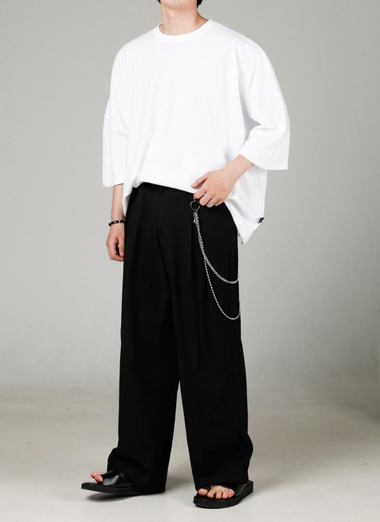 ロゴパッチオーバーTシャツ(WHITE)