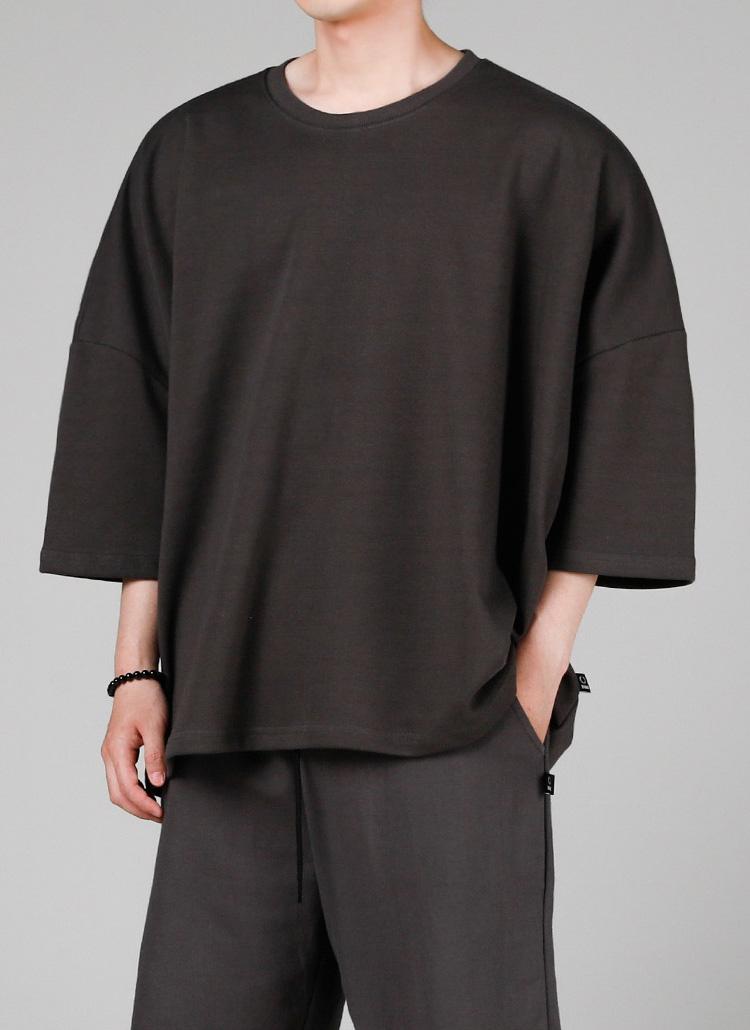 ロゴパッチオーバーTシャツ(CHARCOAL)