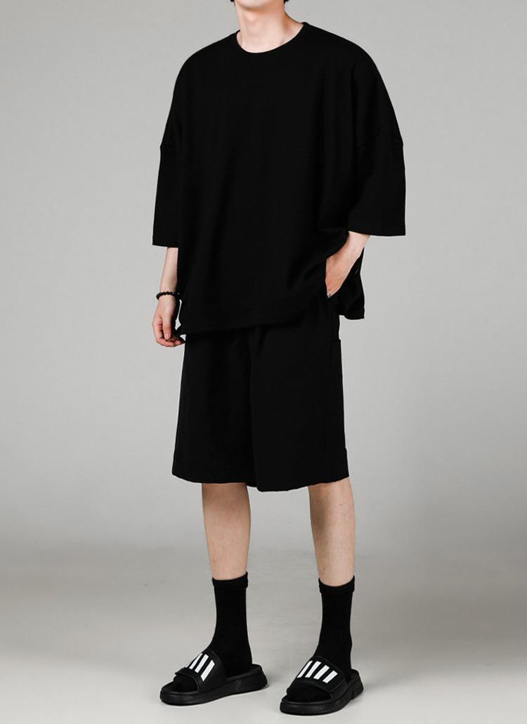 ロゴパッチオーバーTシャツ(BLACK)