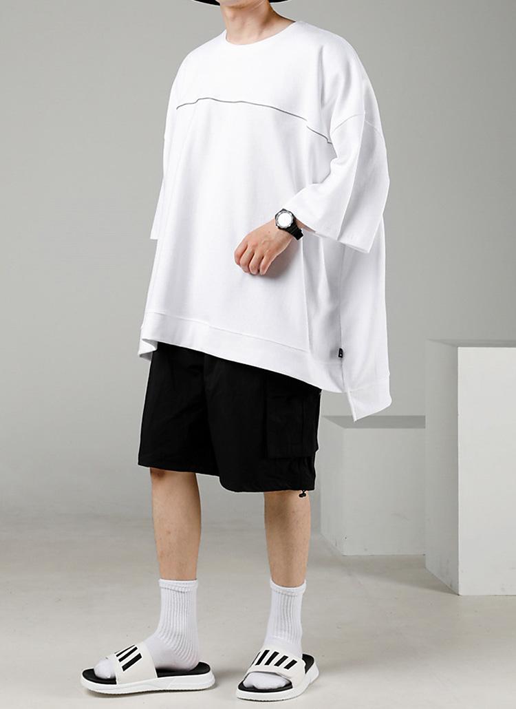 パイピングオーバーTシャツ(WHITE)