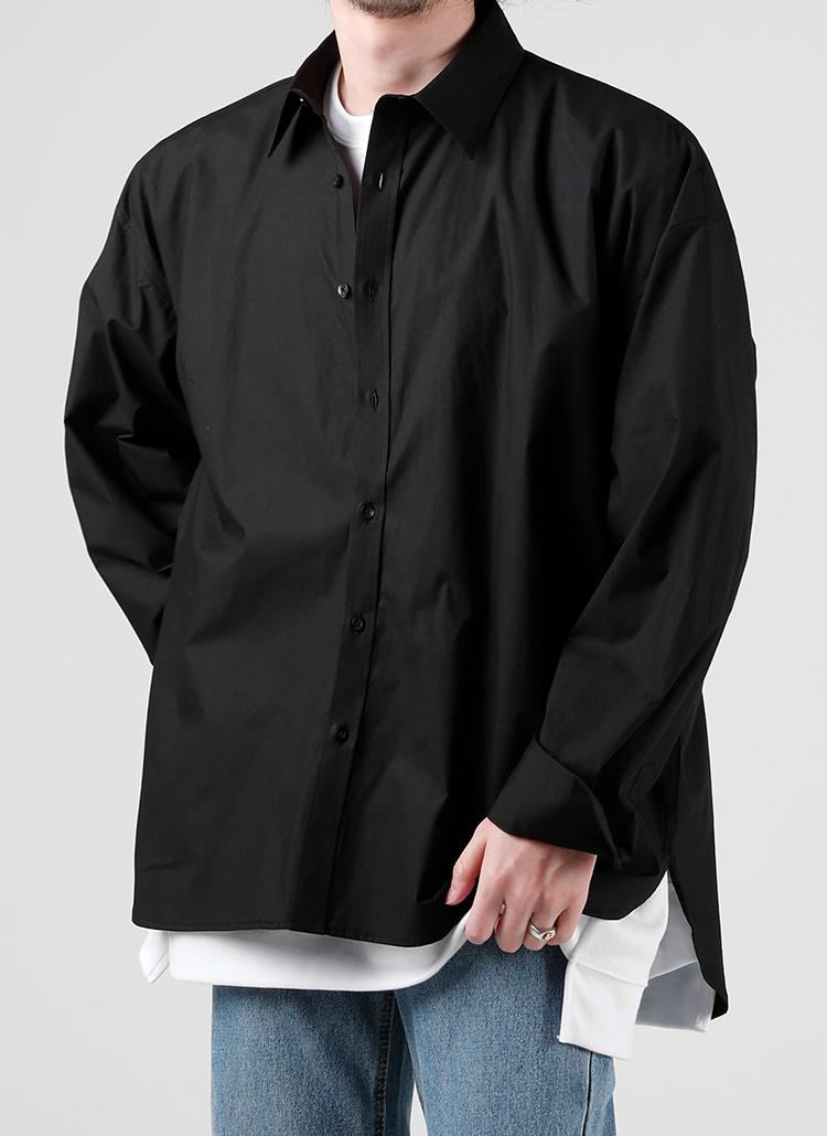 サイドスリットシャツ(BLACK)