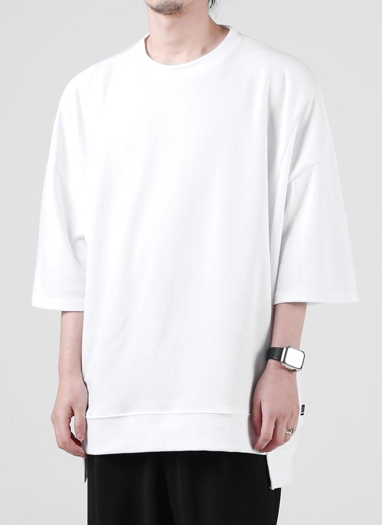 スリットハーフスリーブTシャツ(WHITE)