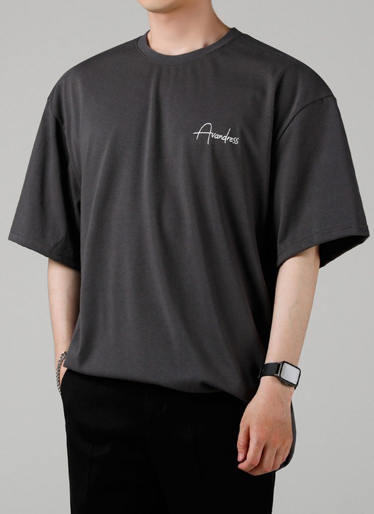 AVANレタリング半袖Tシャツ(CHARCOAL)