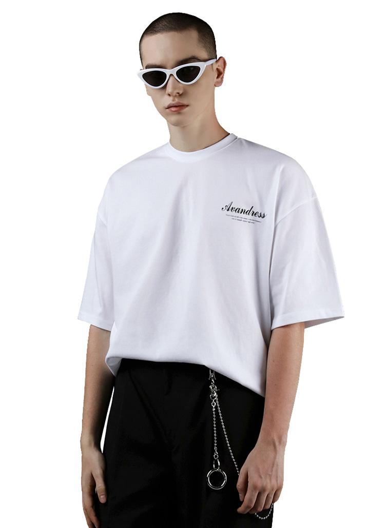 ロゴペイント半袖Tシャツ(BLACK)