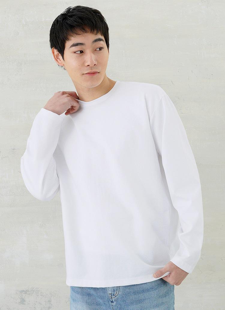 バックステッチロングスリーブTシャツ・全3色