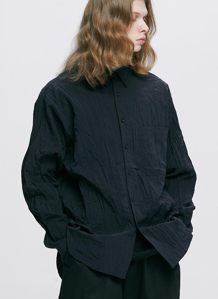 リンクルシャツ(BLACK)