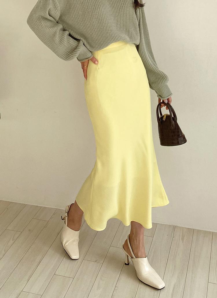 スリムフレアスカート・全6色