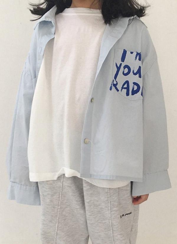 ペイントレタリングシャツ