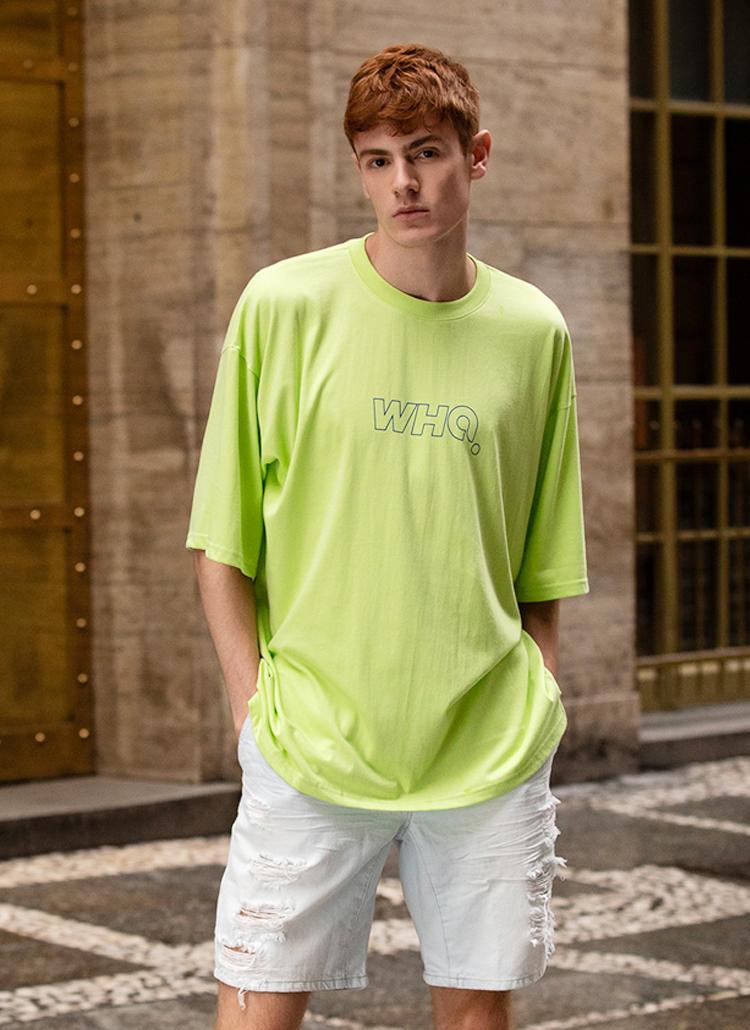 フロントレタリングTシャツ