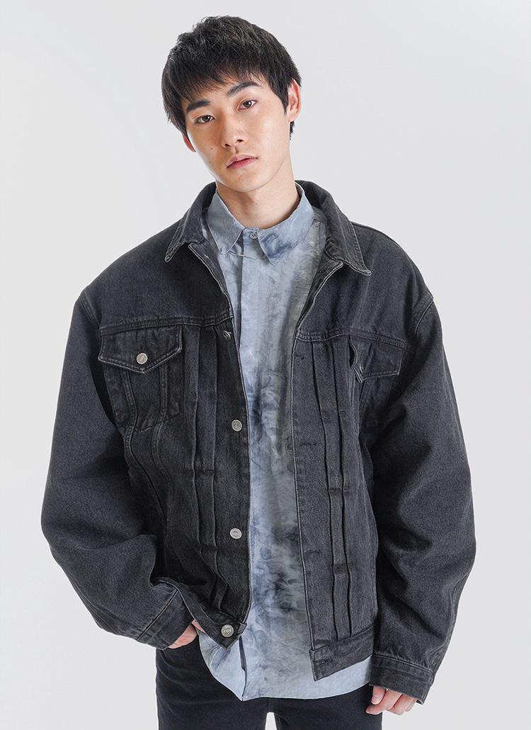 ブラックデニムジャケット・全2色