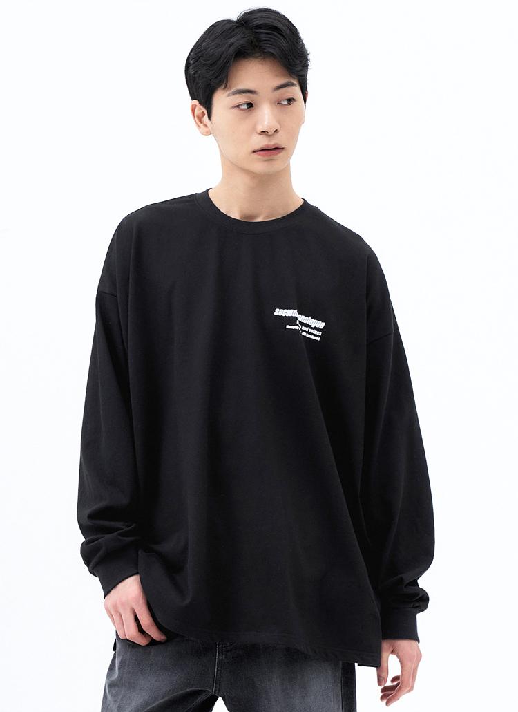 ミニレタリングTシャツ(BLACK)