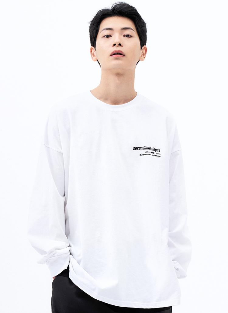 ミニレタリングTシャツ(WHITE)