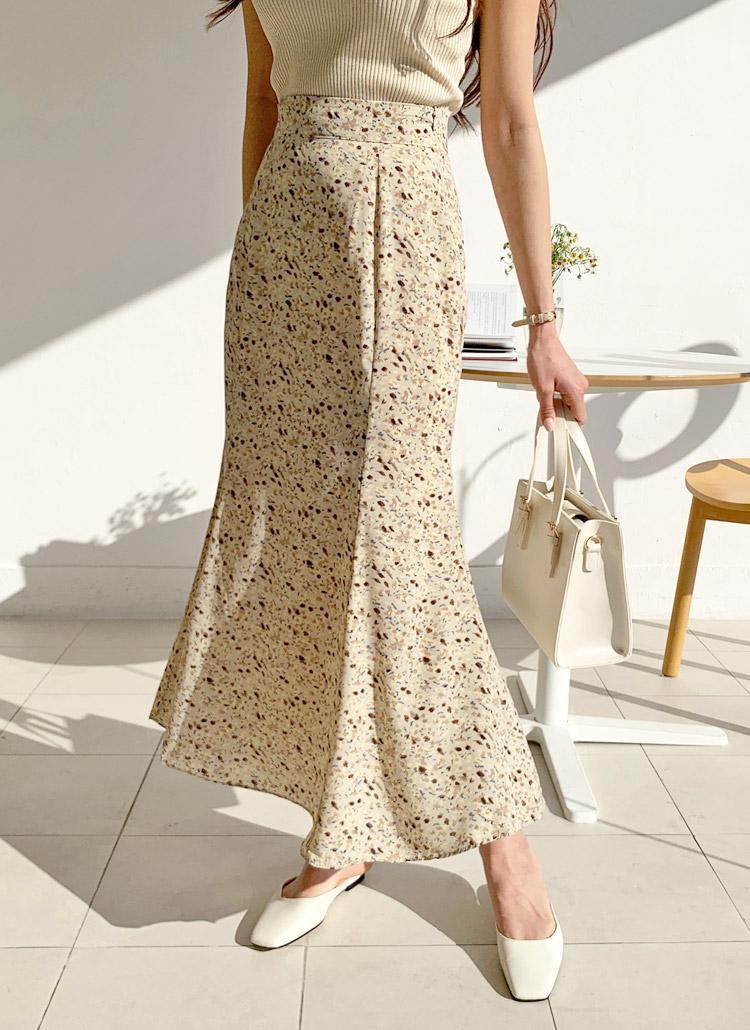 パターンロングマーメイドスカート