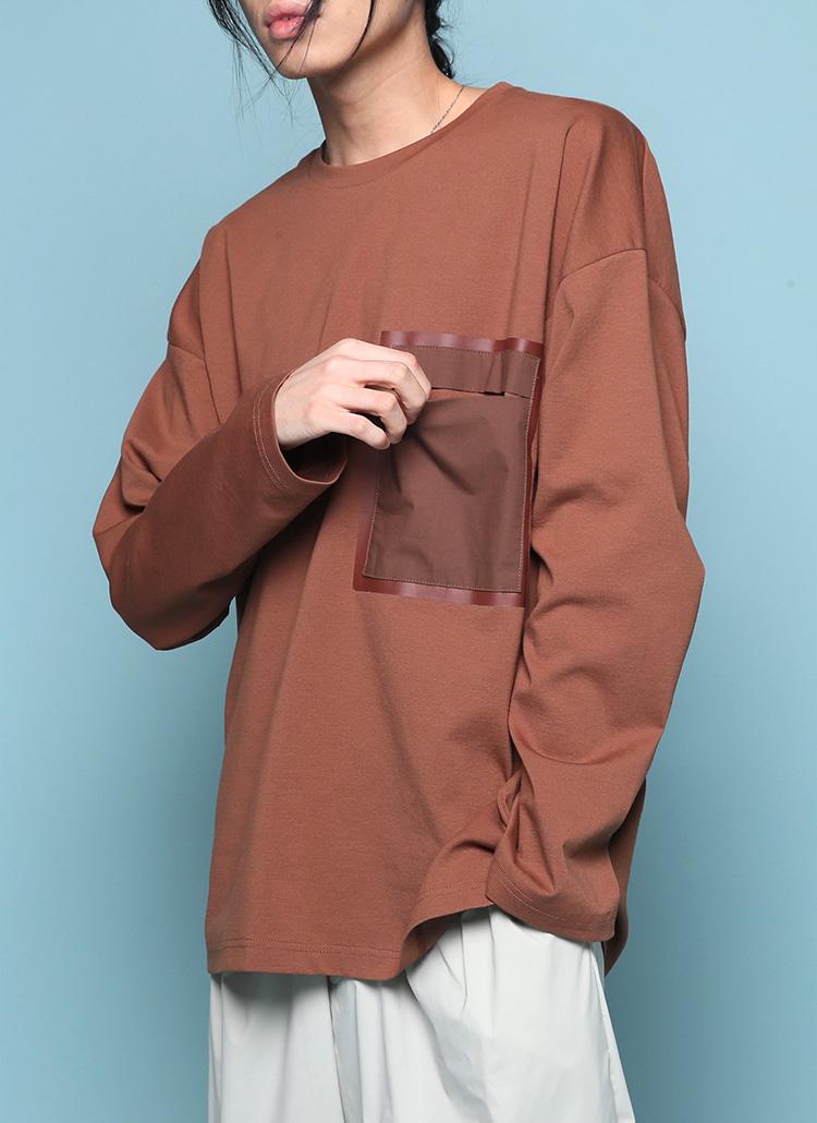 コントラストポケットTシャツ・全3色