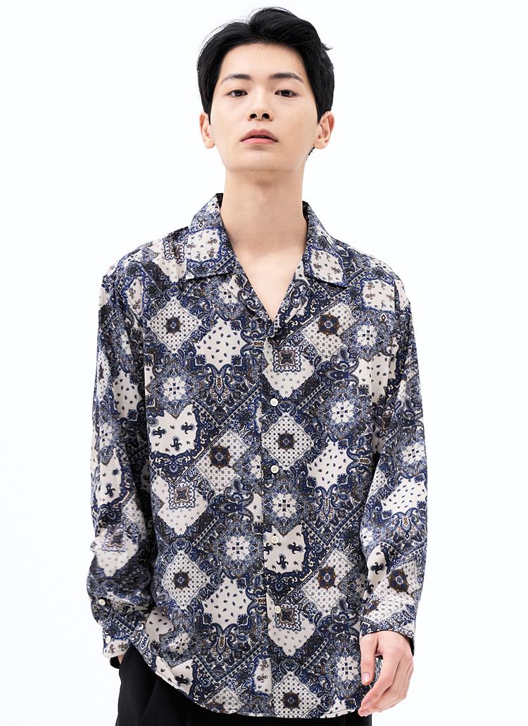 ダイヤペイズリーシャツ(BEIGE)