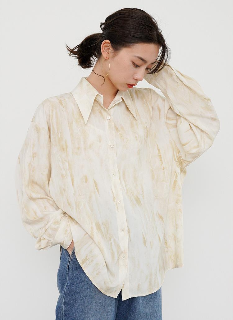 ニュアンス柄シャツ・全2色
