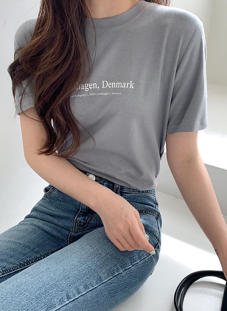 レタリング半袖Tシャツ