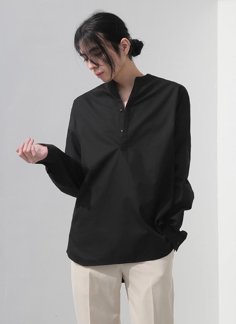 ヘンリーネックシャツ・全2色